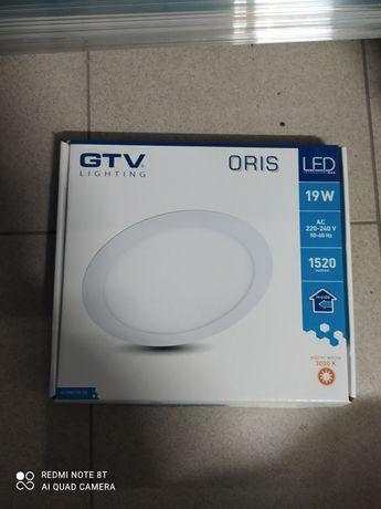 Nowoczesny minimalistyczny panel LED wpuszczany ORIS 19W