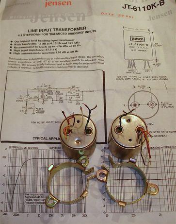 Jensen JE-6110K-B, USA,4:1, профессиональные входные трансформаторы
