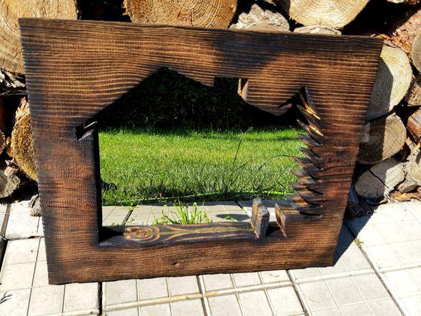 Lustro starodrzew rama  drewniana   art. Deco