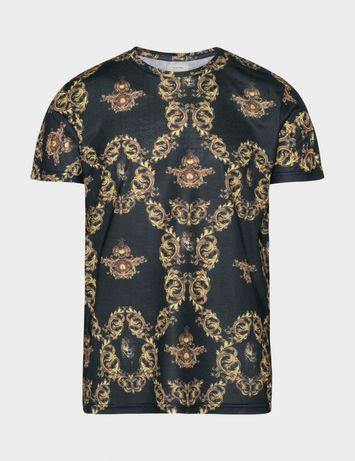 ZARA L Koszulka  T-shirt  REBEL wzory  barok Versace  NOWA