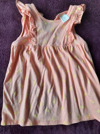Letnia sukienka z H&M dla dziewczynki na rozmiar 74