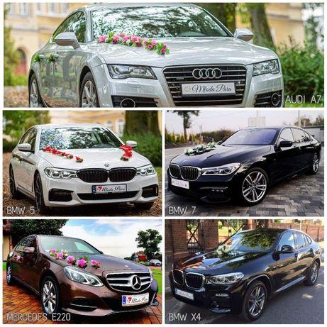 do ślubu AUDI A7, MERCEDES E220, BMW 7 • Brodnica • Toruń • Grudziądz.
