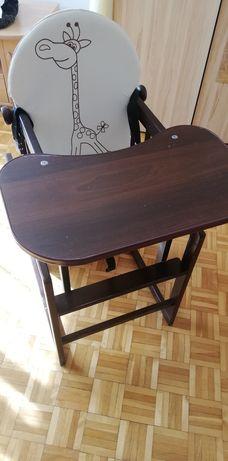 Krzesełko do karmienia - drewniane