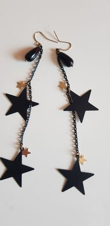 Długie kolczyki gwiazdki
