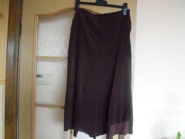 spódnica asymetryczna długa a;la zamsz