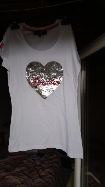 Nowa koszulka jeździecka Spooks z sercem,r.S,XL
