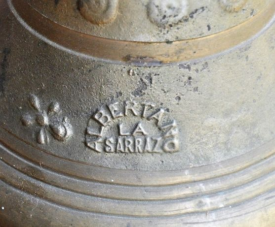 Sineta antiga em bronze Albertano La Sarraz