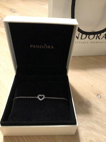 Bransoletka PANDORA z symbolem miłości, 18cm