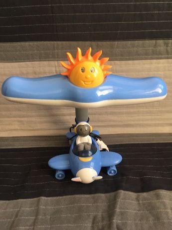 Детская настольная лампа самолетик