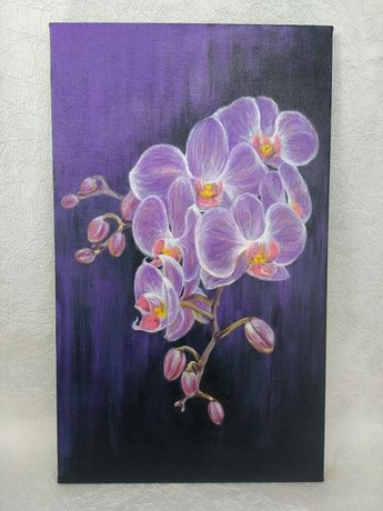 Картина акрилом Орхидея