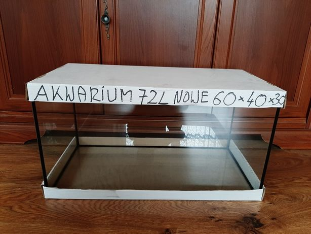 Akwarium 72l NOWE wymiary 60x40x30