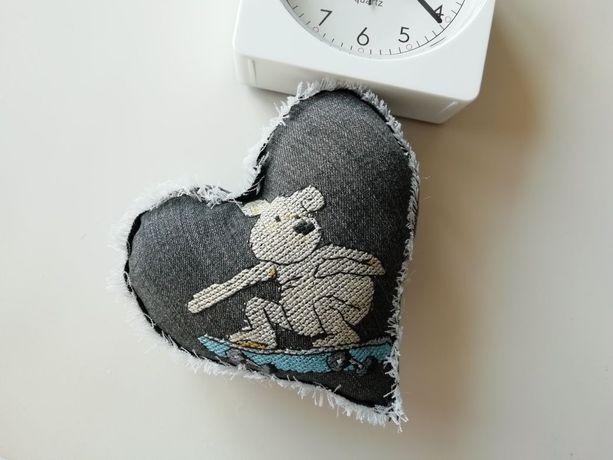 Сердце скейтера декор ручная работа свадебная подушка мишка