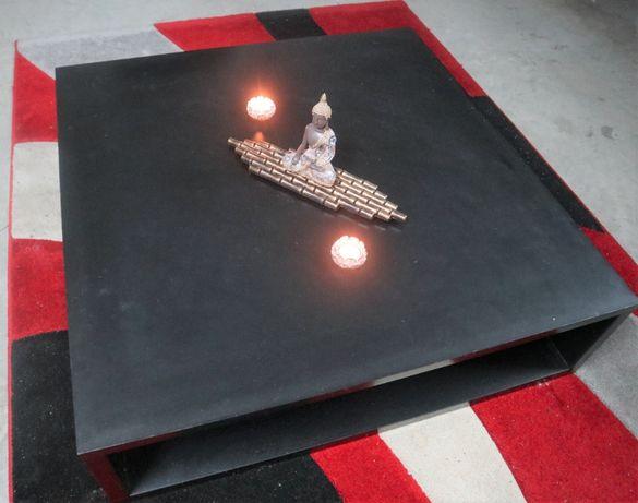 Centro de mesa preto