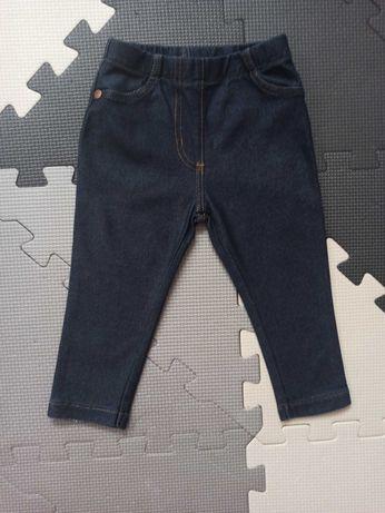 Jegginsy jeansowe Next roz. 80