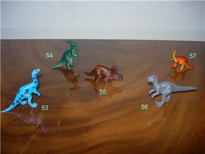 Киндер-сюрпризы. Цари мезозоя. Динозавры.
