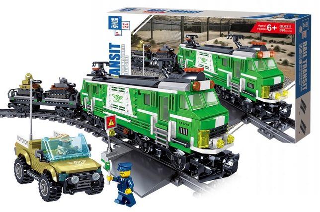 """Конструктор """"Поезд с электромотором"""" 890 деталей ,Аналог Lego Лего"""
