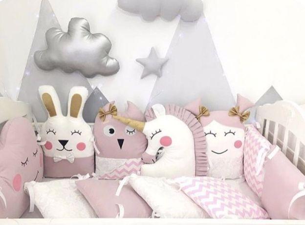 Бортики звірята іграшки защита постіль зверюшки в кроватку игрушки