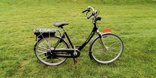 Rower holenderski Saxoxonte z silnikiem spalinowym Sachsa E-Start IGŁA