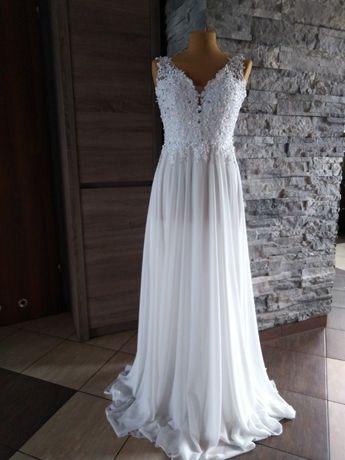 Piękna suknia ślubna roz.34