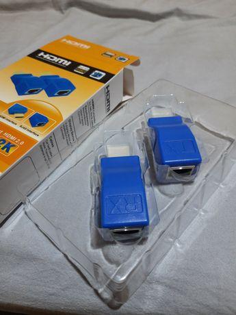 Пассивный удлинитель HDMI по витой паре RJ45 UTP Lan кабелю до 30 метр