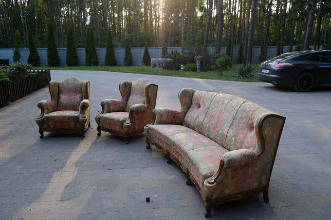 Zestaw mebli retro kanapa fotele