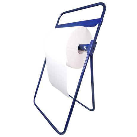 STOJAK PODŁOGOWY na czyściwo, ręczniki w rolkach NIEBIESKI, STALOWY