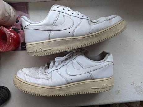 Кожаные кроссовки Nike Air Force 1 оригинал