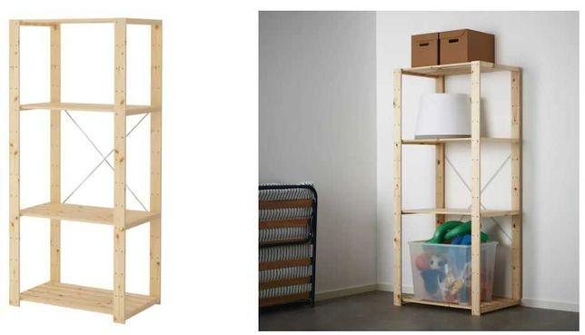 Estante madeira modelo HEJNE do IKEA