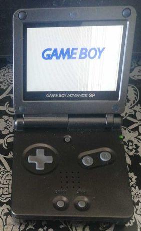 Gameboy Advance SP com ecrã LCD