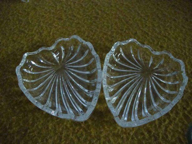 Concha ( coração) dupla(o) em vidro