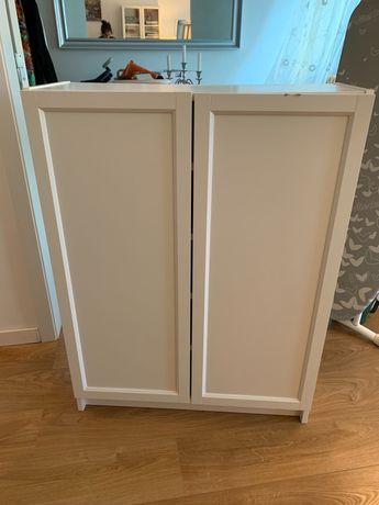 estante com portas billy/oxberg branca IKEA