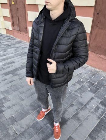 Мужская куртка Adidas /XS-XL/ЖИВЫЕ ФОТО/до -3 /чёрная демисезон/осень