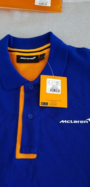 Nowa Koszulka polo Mclaren F1 2020, granatowa, ORYGINALNA, rozmiar L