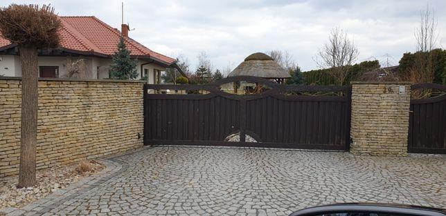 Brama przesuwna  uzywana 450cm furtka 100cm