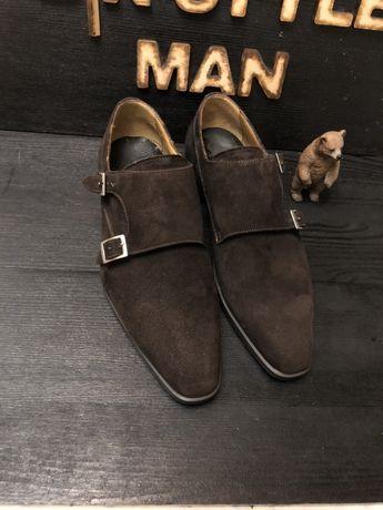 Giorgio 1956 ручная работа италия Монки туфли замш