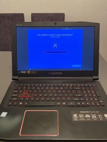 Laptop Gamingowy Acer Predator Helios 300 16GB ram 1050ti Tanio