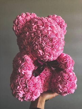 Misie z róż, PREZENT na każdą okazję, urodziny, ślub,imieniny,rocznica