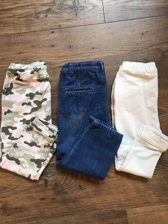 Spodnie 3 pary ZARA 2-3 lata
