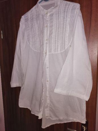 Biała bluzka koszula biust 104 cm