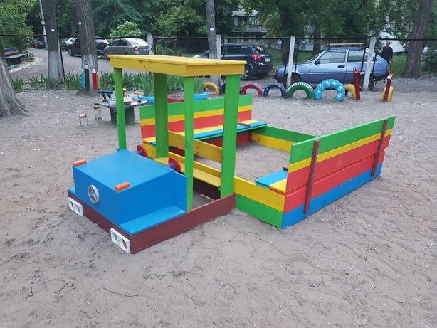 Детская песочница трансформер машинка .