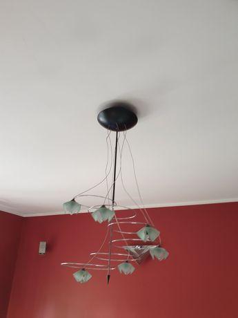 Lampa sufitowa, zielona