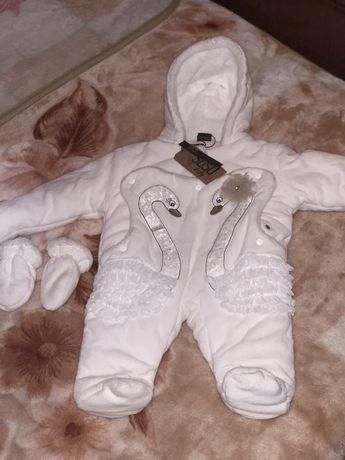 Теплый комбинезон для ребенка , комбинезон на зиму