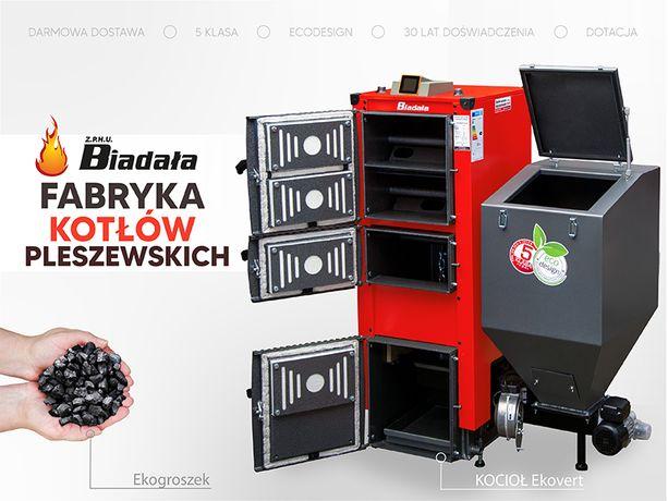 Kotły, piec EKOVERT PLUS na EKOGROSZEK kocioł C.O. moc 15-50 kW