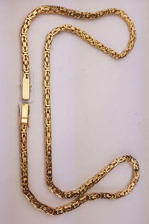 Piękny złoty łańcuszek królewski 118g NOWY 585