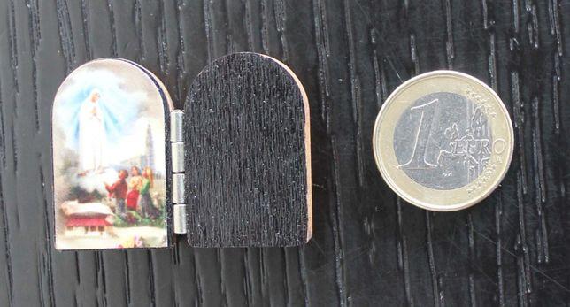 Mini-oratório em madeira / recordação de Fátima