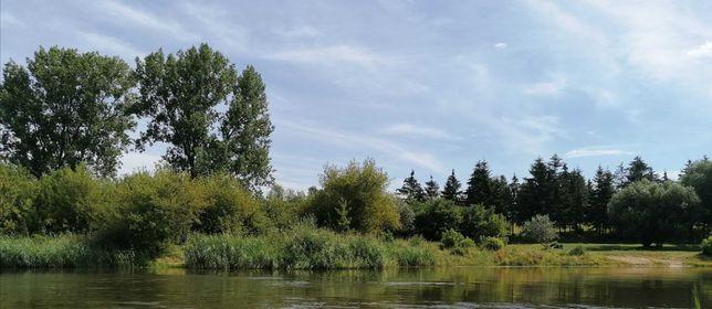 Działka rekreacyjna z war. zabudowy, blisko rzeka Warta, jezioro