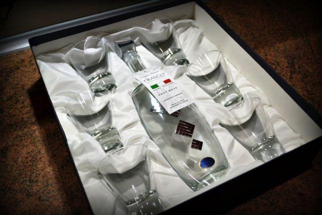 Karafka + 6 szklanek Zestaw Franco Vetrerie e Cristallerie HAND MADE