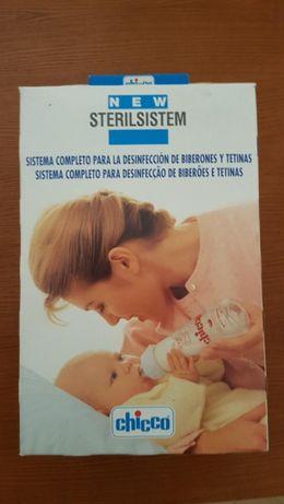 Sistema para desinfeção / esterilização de biberões e tetinas Chicco
