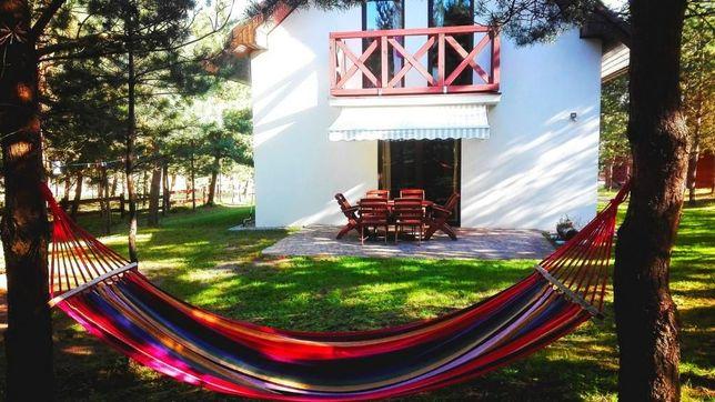 domek domki letniskowe na Kaszubach nad jeziorem sauna balia Kaszuby