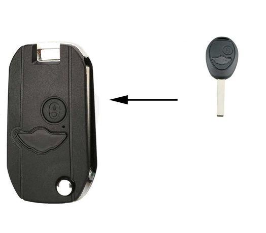 Carcaça chave retráctil para BMW Mini